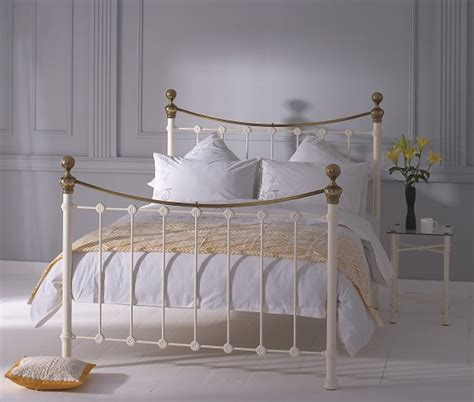 headboard company obc selkirk 3ft single glossy ivory metal headboard by