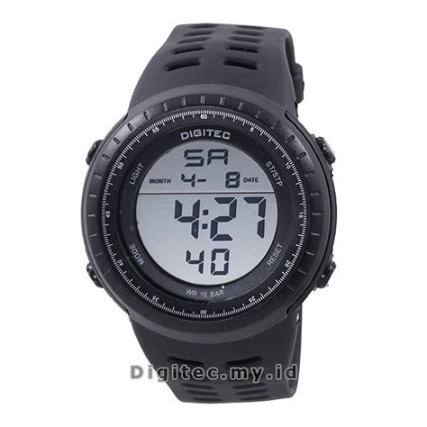 Jam Tangan Digitecc Original Hitam digitec dg 3032t black positive jam tangan sport anti air murah
