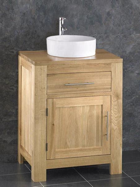 Solid Oak Bathroom 60cm Wide Vanity Furniture Unit Sink Solid Oak Bathroom Furniture Uk