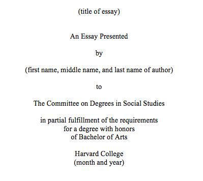 thesis title thesis format the committee on degrees in social studies