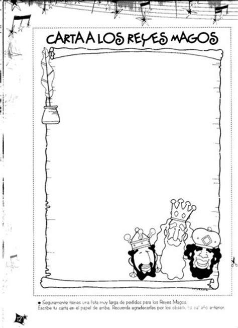 Cartas para los Reyes Magos – Dibujos para imprimir y