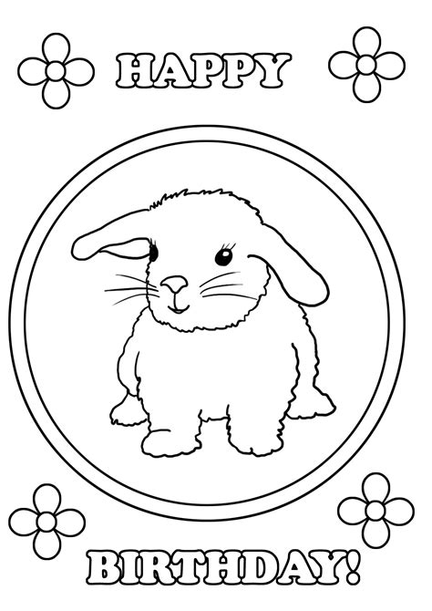 happy birthday coloring pages birthday coloring pages