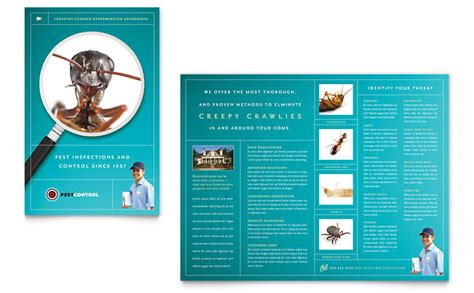 flyer design services pest control services brochure template word publisher