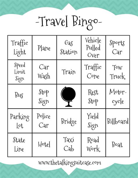 free printable bingo games for adults travel printables archives the talking suitcase