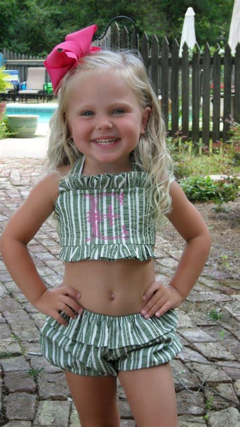 very young polska little friends monogrammed bathing suit baby girl pinterest god