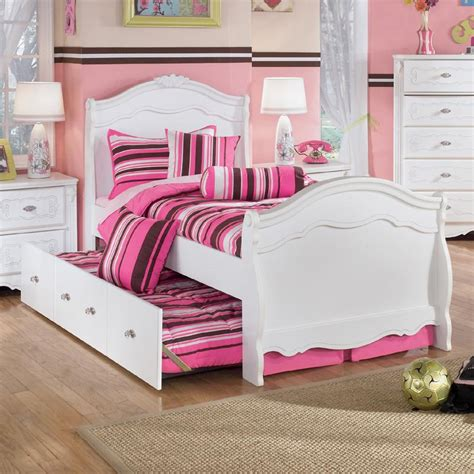exquisite sleigh bedroom set signature design by ashley exquisite twin sleigh bed with