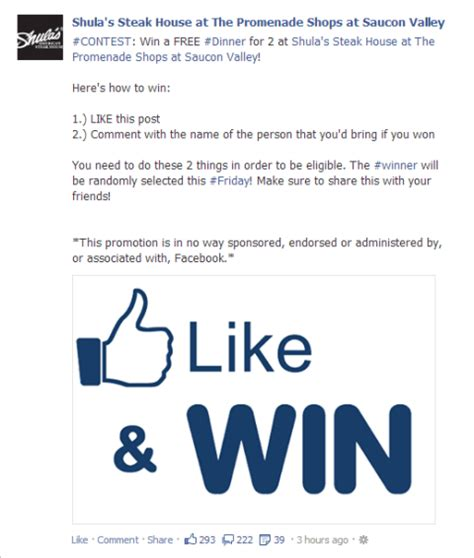 New Facebook Contest And Promotion Rules What Marketers Need To Know Sweepstakes Terms And Conditions Template