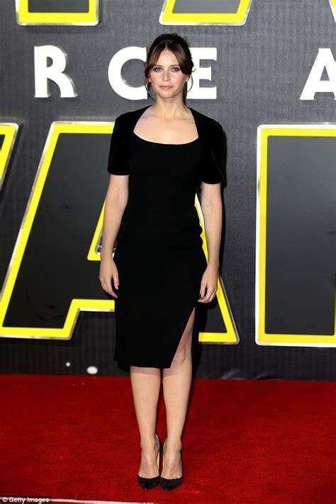 actress cat awakens felicity jones in an lbd at star wars the force awakens