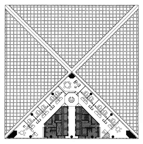 bank of china tower floor plan architectural drawings models photos etc