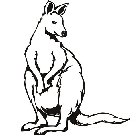 Printable Kangaroo Coloring Pages Coloring Me Kangaroo Coloring Page