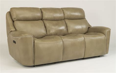 power reclining sofa with power headrest flexsteel living room leather power reclining sofa with