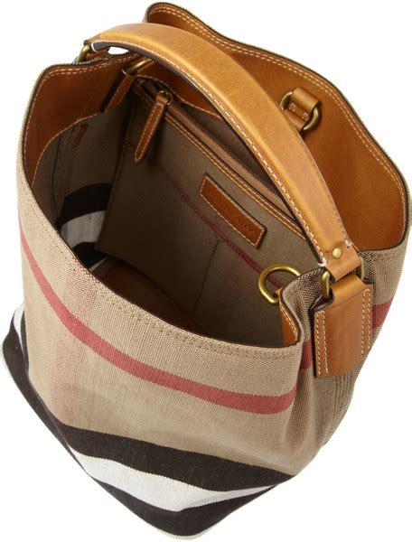 Burberry Hobo Bag Premium by Burberry Susanna Hobo Canvas Premium Authentic Leather