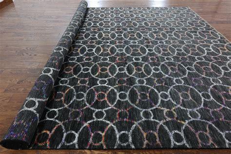 10 x 14 charcoal wool rug new charcoal black geometric rug 10x14 knotted