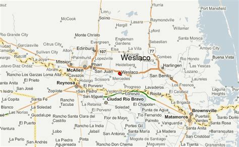 map of weslaco texas weslaco location guide