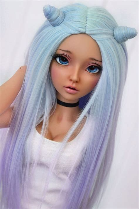 jointed doll accessories wig with magnetic hair horns 4arllin tags alpaca doll
