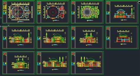 design masjid autocad mosque masjid design plans