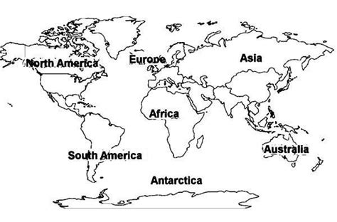 global map coloring page world map of all continents coloring page jpg