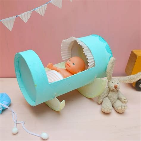 diy projects for kids cute diy recycled doll cradle for kids kidsomania