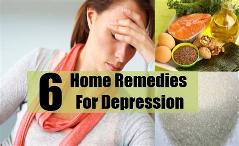 6 top home remedies for depression treatments