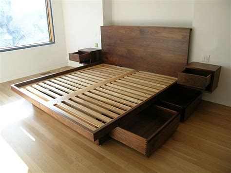 platform bed frame with storage drawers 25 best ideas about wooden beds on farmhouse