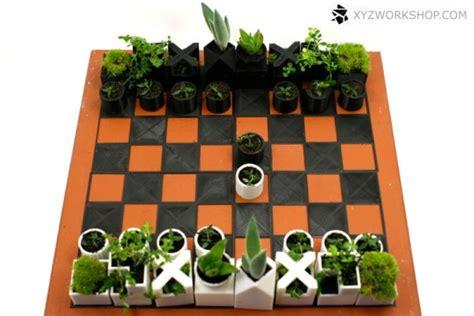 diy chess sets micro chess set micro planter chess set is a 3d printed mini garden game