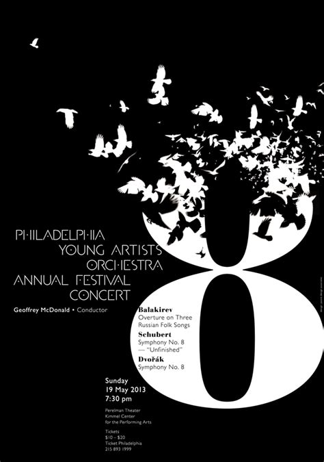orchestra layout poster philadelphia young artists orchestra annual festival