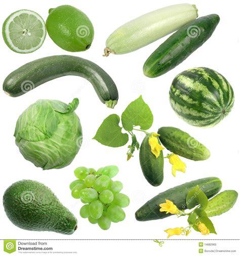 imagenes frutas verdes conjunto de frutas y verdura verdes foto de archivo libre