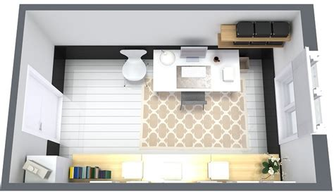 Modern Floor Plan 9 essential home office design tips roomsketcher blog