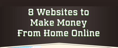Free Online Make Money At Home - 8 free ways to make money online from home infographic visualistan