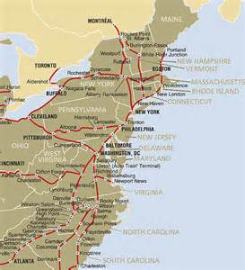 Map From New York To Boston by City Of New York Amtrak Route Map