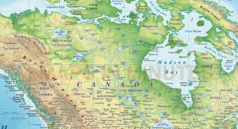 high resolution map of canada digital vector world relief map political regular