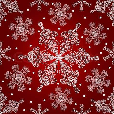 christmas pattern white background lace snowflakes seamless pattern christmas vector