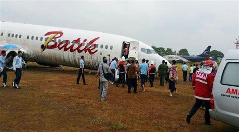 batik air yogyakarta kecelakaan pesawat batik air tergelincir di bandara adisucipto