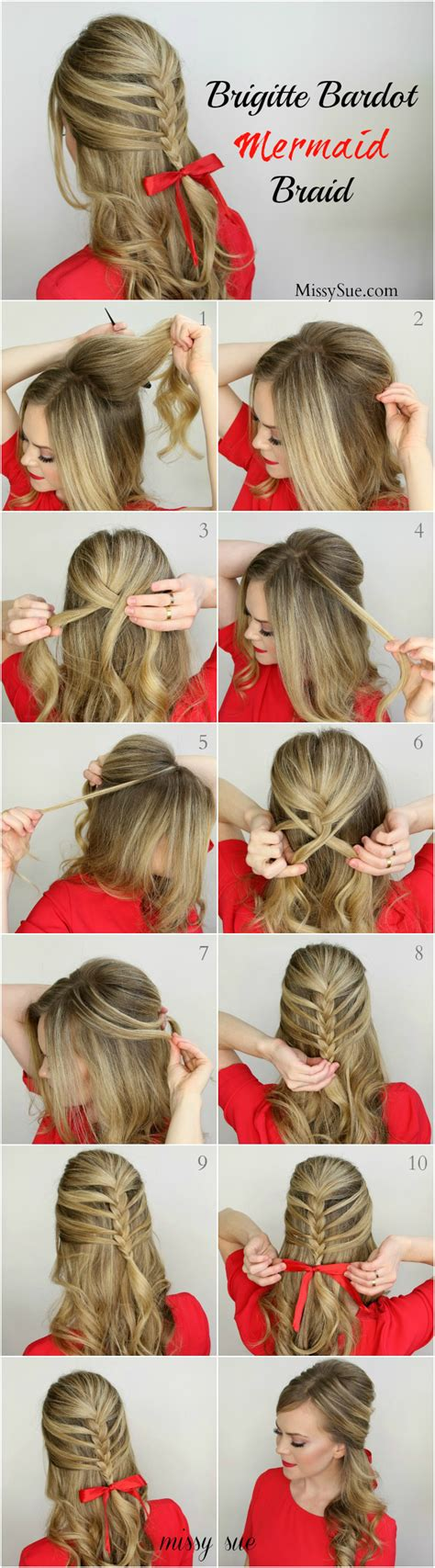 diy hairstyles for christmas diy brigitte bardot mermaid braid pictures photos and