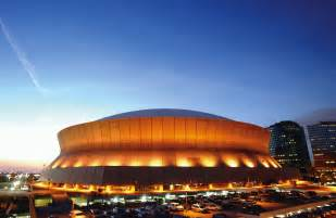 The Mercedes Superdome New Orleans U S A Louisiana Superdome Outside Evening View