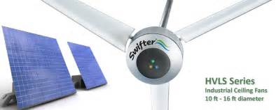 Solar Powered Ceiling Fans Solar Powered Hvls Ceiling Fans Swifter Fans