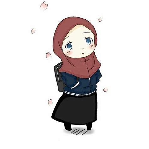gambar foto kartun muslimah cantik imut sholehah