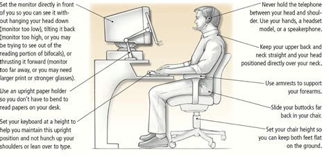 how to keep posture at a desk what are the best ergonomics to help reduce my neck