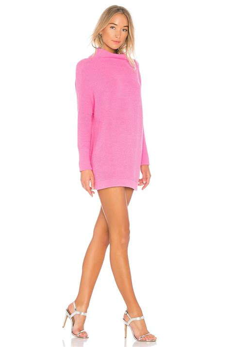 free ottoman slouchy tunic free ottoman slouchy tunic sweater dress in pink lyst