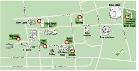psu parking map parking information kiosks psu transportation services