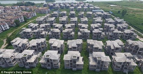 abandoned cities in china photos show hundreds of abandoned villas in ghost