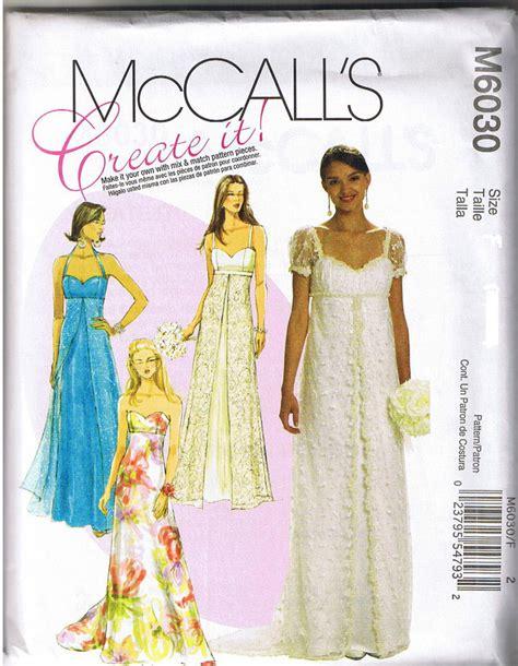 dress pattern empire empire waist princess seam wedding prom dress gown sewing