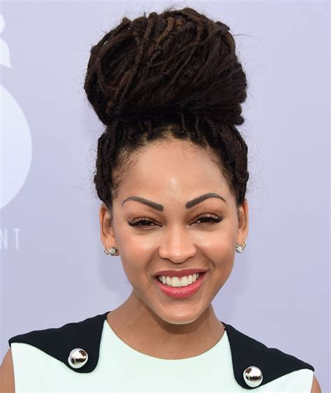 fox braid hairstyle updo african american meagan good at 24th annual women in entertainment