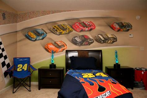 wheels room decor nascar painted bedroom wall ideas for will s room boys heavens and nascar
