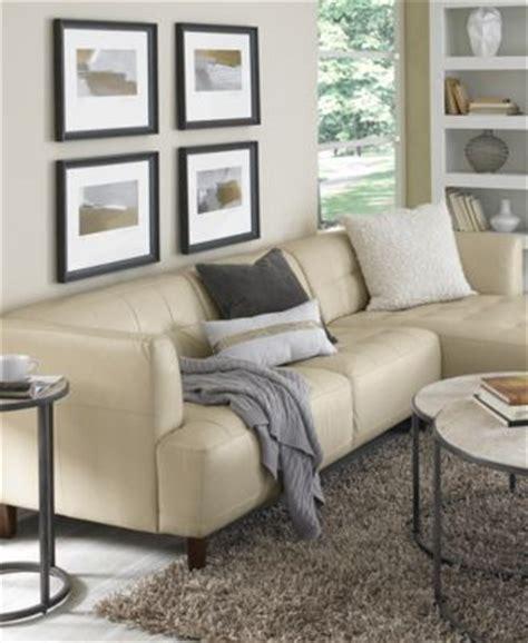 macys living room alessia leather 3 sectional sofa furniture macy s