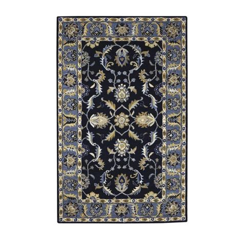 blue rugs 6 home decorators collection aristocrat blue 7 ft 6 in x 9 ft 6 in area rug 0167540310 the