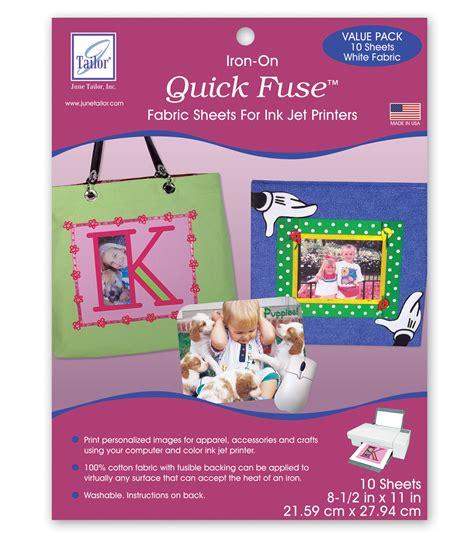 printable fabric sheets joanns june tailor inkjet fabric sheets 10 pkg jo ann