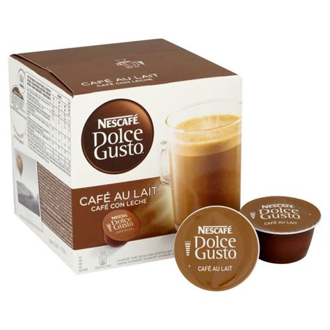 Nescafe Dolce Gusto Cafe Au Lait 16 Capsule Coffee Kapsul Kopi nescafe dolce gusto cafe au lait pods 16 per pack from ocado