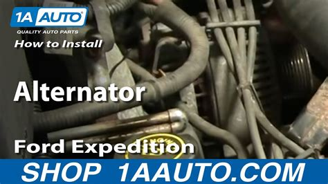 replace alternator   ford expedition youtube