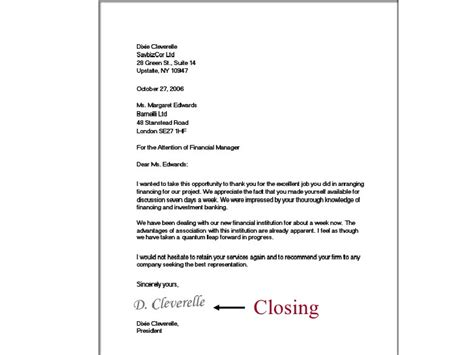 Closing Sentence Business Letter Lesson 11 Writing Business Letters